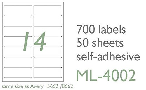 Amazon Maco Laserink Jet Matte Clear Address Labels 1 13 X