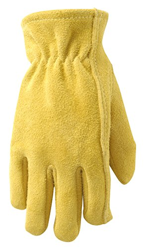 Wells Lamont 1087Y Wells Lamont Ultra Comfort Sueded Deerskin Youth Gloves (Leather Chore Glove)
