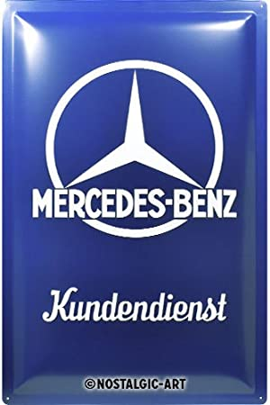 30 x 20 cm gewölbt /& Motiv geprägt 300 SL blue Blechschild Mercedes-Benz