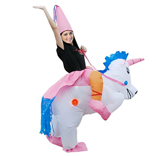 Self Made Costumes Halloween (KOOY Inflatable Unicorn Adult Halloween Costume Party Funny Cosplay)