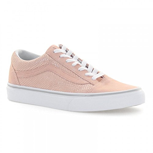 Pink White Dots (Vans VA38G1MU5 Women's Old Skool Skate Shoes, Metallic Dots/Pink/Sliver/White, 7 M US)