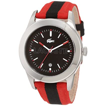 c63c087bf9a40 Lacoste Men's 2010614 Advantage Red Grosgrain Strap Watch