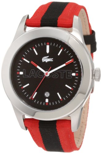 Lacoste Men's 2010614 Advantage Red Grosgrain Watch