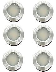 MARVIX 6 x LED 12V 24V Spot Lights Warm Wit 3000k Plafondlamp Caravan Camper Boot Chrome Inbouw Dimbare Downlights - Anti-roest