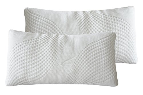 All American Honeycomb Bamboo Pillow | Shredded Memory Foam Pillow With Cooling Bamboo Cover Collection | QUEEN SIZE best