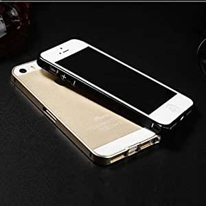 YULIN New Fashion Style Metal Hard Bumper Frame Case for iPhone 5/5S , Silver