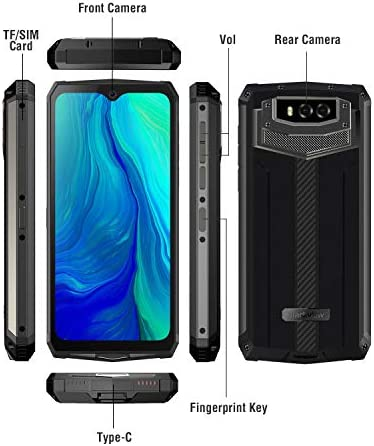 "Unlocked Rugged Smartphones, Blackview BV9100 4G LTE 13000mAh Battery Rugged Cell Phones Android 9.0 IP68 Waterproof Drop Proof, 6.3"" Screen 4GB+64GB Octa-core Dual SIM for GSM AT&T T-Mobile (Grey)"