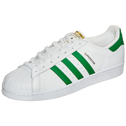 Adidas Superstar Herren Sneaker, Weiß–�?Ftwbla/Grün/dormet) 38