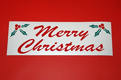 GVGs Shop 1 Pc Expert Popular Merry Christmas Sign Banner Printed Home Decor Window Declare Size 4