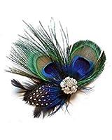 JISTL Unique Design of Peacock Feather Hair Accessories for Women