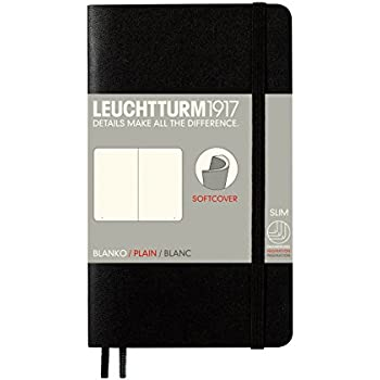 Leuchtturm1917 Notebook Pocket A6 Softcover Plain Blank - Black