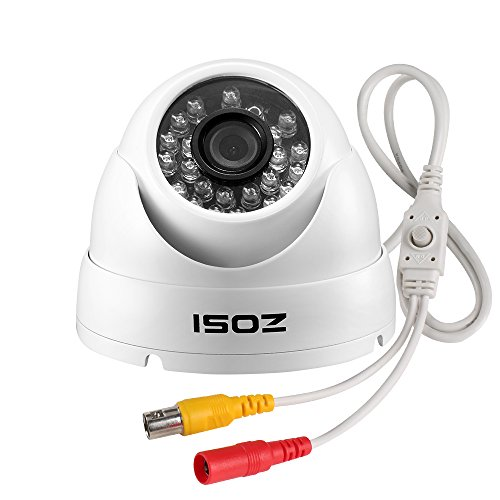 ZOSI 720p Dome Security Cameras (Hybrid 4-in-1 HD-CVI/TVI/AHD/960H Analog CVBS),1280TVL Day Night Weatherproof Indoor/Outdoor Dome Camera HD,Night Vision Up to 65FT(20M)