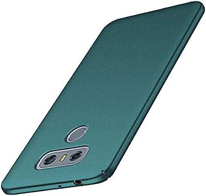 anccer Funda LG G6 [Serie Colorida] [Ultra-Delgado] [Ligera] Anti-rasguños Estuche para Carcasa LG G6 (Grava Verde)
