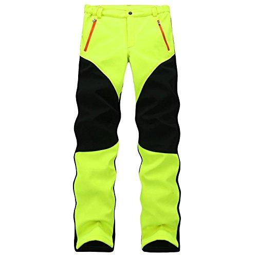 Shining4U 2018 Winter Brand Pants Men Women Softshell Pants Windproof Waterproof Thermal Mountain Trousers Green (Contour Soft Shell Pant)