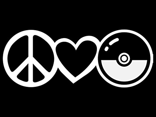Peace Love Pokemon Vinyl Decal Sticker | Cars Trucks Vans Wa