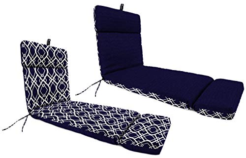 Mainstay Navy Trellis Outdoor Patio Chaise Lounge Cushion