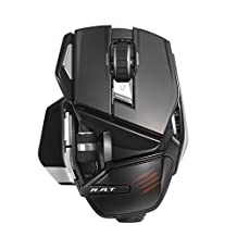 Mad Catz R.A.T. Wireless Mouse for PC, Mac and Android - Gloss Black (MCB4372400C2/04/1)