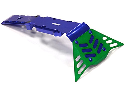 Plate Billet - Integy RC Model Hop-ups T4140BLUE Billet Machined Front+Mid Skid Plate for Traxxas 1/10 E-Revo, Revo 3.3, Summit