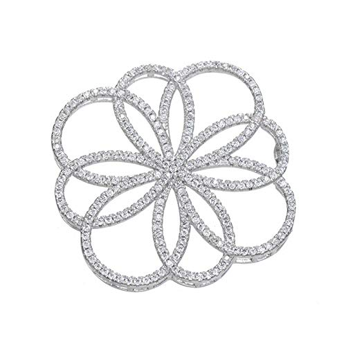 Hollow Big Flower Connector Charms | Zirconia Flowers Pendants | Filigree Findings DIY Pearl Necklaces Accessories
