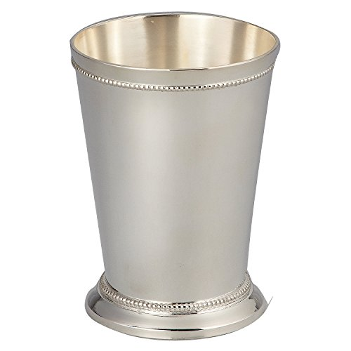 - Elegance Silver 90371 Silver Plated Beaded Mint Julep Cup, 12 oz.