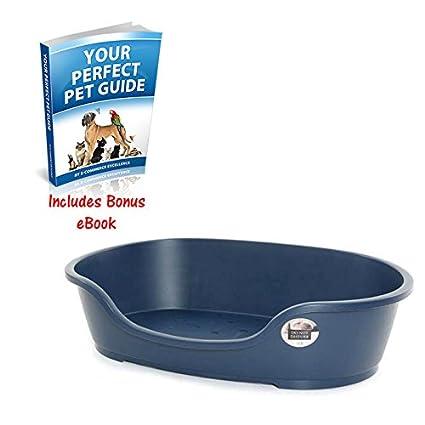 Durable plástico no molestar perro cama características antideslizante Fee, reducción de entrada, ventilación Base