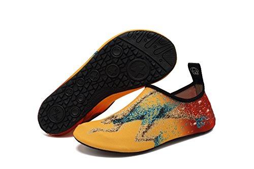 VIFUUR Wassersport Schuhe Barfuß Quick-Dry Aqua Yoga Socken Slip-On für Männer Frauen Kinder Laufen