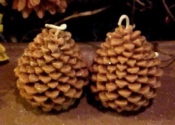 (Pine Cone Votive 1 Cavity Silicone Mold 1166 Food-Soap-Candle-Resin-Flexible)