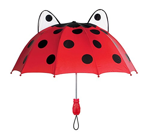 Kidorable Girls' Ladybug Umbrella, Red, Adult