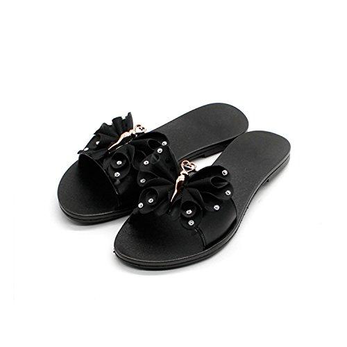Flops Bowtie flip Flats Sandals apricot Woman Sorses Shoes Summer 6znwpx05q1