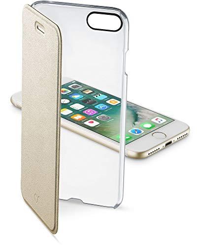 リラックスした追放するなにCellularline iPhone8 ケース 手帳型 ゴールド iPhone7 CLEAR BOOK for iPhone 8/7【イタリアデザイン】