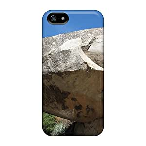 MMu15134EeRG Tpu Phone Case With Fashionable Look For Iphone 5/5s - Huge Boulder At Sequoia Park
