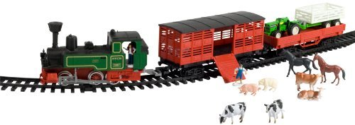 (WowToyz Deluxe Steam Train with Livestock Cars and Vehicles)