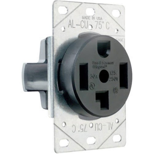 Legrand - Pass & Seymour 3864CC6 Flush Outlet 30-Amp 125-volt/250-volt Three Pole Four Wire