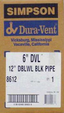 Simpson Duravent Double Wall Black Pipe Close 12