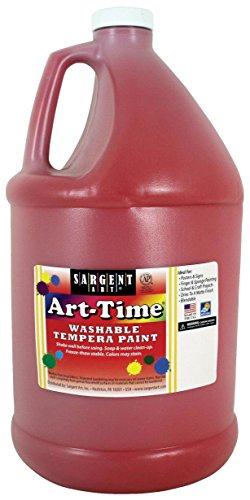 Sargent Art 17-3620 128 oz Red Art-Time Washable Tempera Paint,1 gallon (Tempera Paint Red)