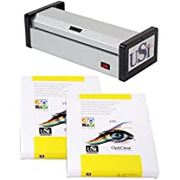 USI HD1200 Heavy Duty Pouch Laminator Kit, 12 Inches Wide and 15 Mil Thick; 5-YEAR WARRANTY, Laminator Made in USA! Includes 1 Box Each of Premium Opti Clear 5 Mil Letter and Legal Pouches