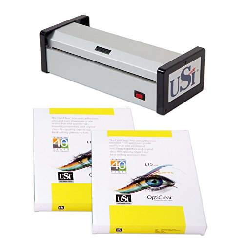 - USI HD1200 Heavy Duty Pouch Laminator Kit, 12 Inches Wide and 15 Mil Thick; 5-Year Warranty, Laminator Made in USA! Includes 1 Box Each of Premium Opti Clear 5 Mil Letter and Legal Pouches