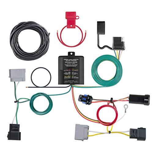 (CURT 56330 Vehicle-Side Custom 4-Pin Trailer Wiring Harness for Select Dodge)