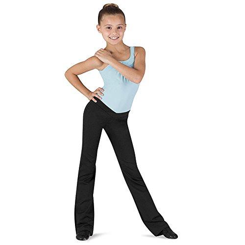 Comfort Jazz Pants 12-14 Black (Girls Jazz Pants)