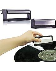 Cepillo de limpieza para discos de fibra de carbono, antiestático, limpiador de discos de vinilo, herramienta de limpieza para tocadiscos Tamaño libre Black 1pc