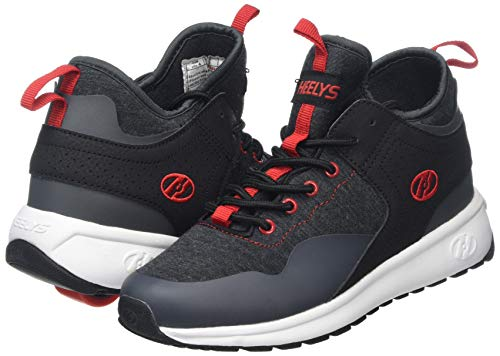 Heelys Boys' Piper Tennis Shoe Black Heathered/Red 3 M US Big Kid by Heelys (Image #5)
