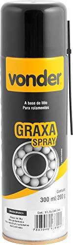 Graxa em spray branca, base de lítio, 200 g Vonder