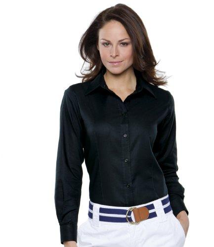 Kustom Donna Lunghe Maniche Camicia Blu Kit HqrPSwH