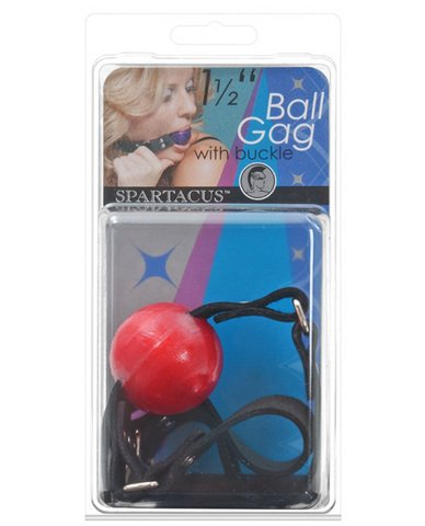 15-Ball-Gag-wBuckle-Red
