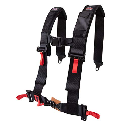 Tusk 4 Point 3 inch H-Style Safety Harness Passenger Side - Fits: Yamaha Rhino 660 4x4 2004-2007