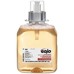 Gojo Industries 5162-03 Gojo Fmx-12 Antibacterial Luxury Foam Hand Soap Refill, 1,250 Ml, Translucent Apricot