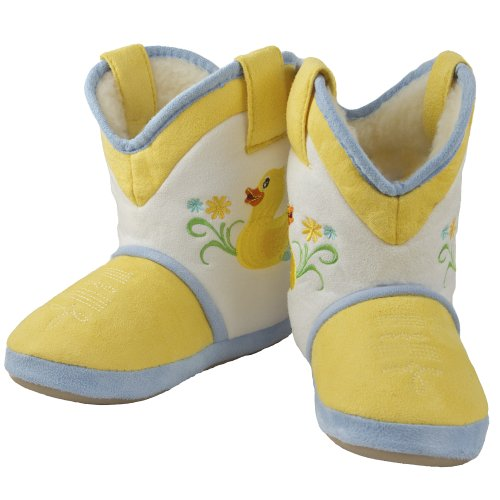 - Young Rainy Day Duck (Small-Medium) Cowgirl Boot Slippers