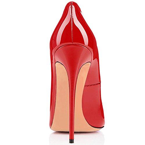Stiletto Aiguille Talon Rouge A Grande Chaussures Ubeauty Femmes Taille Escarpins Soles Laçage qtfw0A