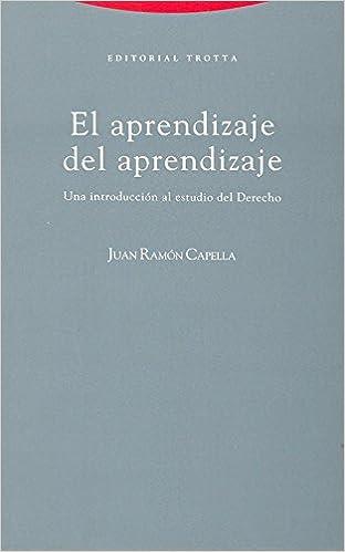 Book Aprendizaje del Aprendizaje, El (Spanish Edition)