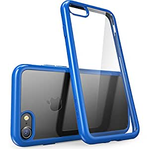 iPhone 8 Case, [Scratch Resistant] i-Blason Clear [Halo Series] Case for Apple iPhone 7 2016 / iPhone 8  2017 Release (Clear/Navy)